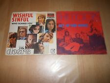 LOT 2 VINYLES 45 TOURS THE DOORS WISHFUL SINFUL GET UP AND DANCE