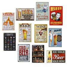Vintage Metal Tin Wall Sign Plaque Poster for Cafe Bar Pub Beer 20x30cm