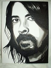 Canvas Painting Musician Dave Grohl Foo Fighters B B&W 16x12 inch Acrylic