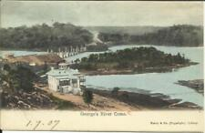 """New South Wales Sg#333,#334 Sydney 9/Jy/07 postcard view """"George''s"""