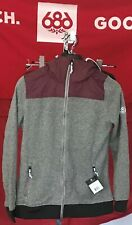 2020 NWT 686 Flo Fleece Layer Hoody Hoodie Snowboard Small S Berry Womens c57