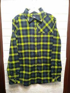 Club Ride Apparel Shaka Flannel Long Sleeve Snap Up Cycling Top Size Medium