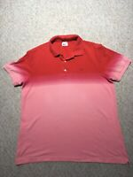 Vintage Washed LACOSTE Polo Shirt  Size 7 XXL Red&Pink Short Sleeve Worn once