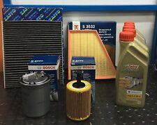 KIT TAGLIANDO 4 FILTRI BOSCH 5LT CASTROL 5W30 VW POLO 9N 1.4TDI DAL 2001 AL 2012