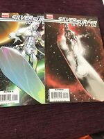 "Silver Surfer ""In Thy Name"" #1 & #2 Spurrier/Huat 2008 1st Print Marvel comics"