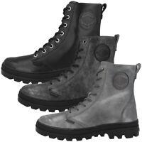 Palladium Pallabosse OFF Leather Women Schuhe Boots Stiefel Stiefeletten 95527