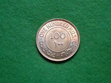 Stunning 1935 Palestine Silver 100 Mils Lustrous nice toning Unc (JU-566)