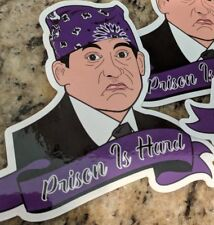 """michael scott stickers """"prison mike"""" The Office."""