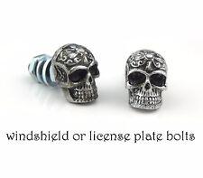 2 tribal Skull bolts License plate frame screw,windshield,Motorcycle custom bike