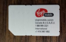 VIRGIN MOBILE CANADA HSPA GSM CELL PHONE TESTING SIM CARD TO ACCESS PHONE OPTION