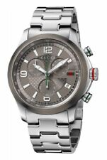 Gucci G-Timeless Grey Chronograph Dial Steel Men's Watch YA126238