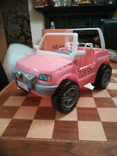 Vintage 1999 Mattel Barbie Pink Beach 4 X 4 Jeep Convertible 29 x 20 x 18cm