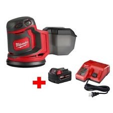 Milwaukee Random Orbit Sander w M18 Starter Kit 18V Lithium-Ion Cordless 5 in.