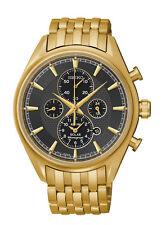 Seiko SSC210 SSC210P9 Mens Solar Alarm Chronograph Watch gold NEW RRP $625.00