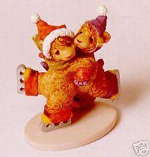 """Skaters' Waltz"" Porcelain Skating Teddy Bears Figurine Romantic"