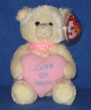 TY MY MOM the BEAR BEANIE BABY - MINT with MINT TAGS