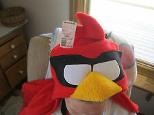 NEW Basic Plush 40x60 ANGRY BIRDS blanket Hooded throw Soft blankie Red Bird