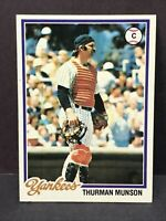 1978 Topps Thurman Munson #60 New York Yankees NM