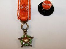 Médaille Commandeur de l'Ordre du Ouissam Alaouite Maroc  + rosette Medal