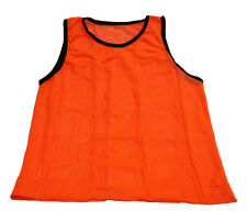 NEW ORANGE SCRIMMAGE VEST (ADULT) CHEAP SINGLE SOCCER PINNIE MESH PRACTICE
