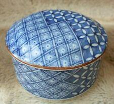 Fitz & Floyd Porcelain Trinket Jewelry Box w/ lid Vintage