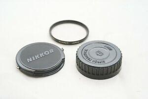 [NEAR MINT]Vintage Nikon Rear Cap + Front Cap + Filter Nippon Kogaku Genuine