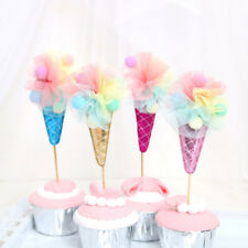 Unique Ice cream Cupcake Topper Birthday Party Decoration Event Party Gifts LJ