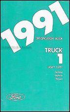 1991 Ford Service Brille Buch Ranger Explorer Aerostar
