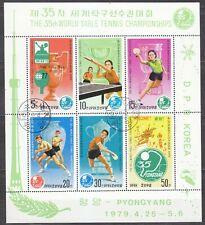 KOREA Pn. 1979 used SC#1801a Sheet, 35th World Table Tennis Championships, ...