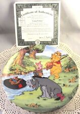 Disney Pooh Going Fishing 4th Issue Fun 100 Acre Woods Series Plate MINT w/ COA