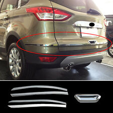Chrome Rear Trunk Lid Back Door Cover Trim Molding For Ford Escape Kuga 2013-17