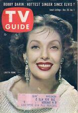 1959 TV Guide December 26 - Loretta Young; Dorothy Provine; Bobby Darin;Charisse