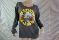 GUNS 'N' ROSES grey official long jumper sleeve top sweatshirt size 12 EUC