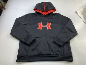 Under Armour Boys Black Loose Pullover Hoodie Sweatshirt Size Youth XL
