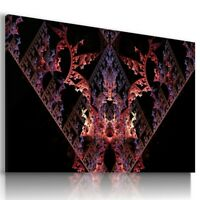 FANTASY FRACTAL STAR Canvas Wall Art Picture Large SIZES  L519 UNFRAMED