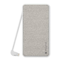 mophie Powerstation Plus 6000mAh Built-In Lightning Cable Apple/USB Device, Gray