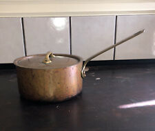 "Williams-Sonoma Mauviel French Copper Tin Sauté Pan Pot France 8"" France Lid"