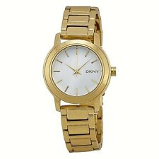 NWT DKNY Women's Watch Yellow Gold Stainless Steel Bracelet TOMPKINS NY2272 $115