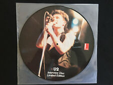 U2- Limited Edition Interview picture disc- Newcastle- Red Door Records 1/3/1983