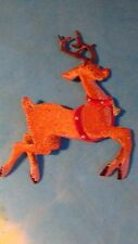 Christmas Reindeer 3 Inch Iron On Patch