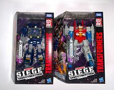 Transformers War for Cybertron Siege Voyager WFC-S24/25 Starscream and Soundwave