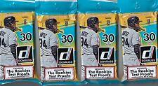 (4) 2016 Donruss Baseball MLB Trading Cards New 30ct. Retail Fat Pack LOT