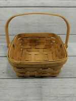 Vintage 1998 Longaberger Berry Basket With Swing Handle Signed. FREE SHIPPING.