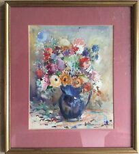 Bouquet Fleurs Aquarelle M.Chambard-Villon 1899-1992 DLG De Bonnard