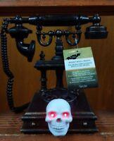 Animated Illuminated Talking Spooky Skull Phone *NEW* - Gemmy Halloween 2018