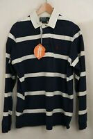 RALPH LAUREN Mens Rugby POLO Shirt ATHLETIC CUSTOM Fit Long Sleeve Large P98