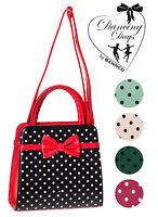 Banned Apparel Vintage 50s Rockabilly Carla Polka Dot Handbag