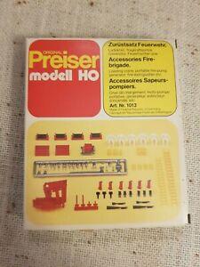 Preiser modell H0 #1013 Zurüstsatz Feuerwehr