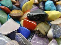 Size #4 - Medium Tumbled Polished Gemstone Mix - 1000 Carats Lots + Free Gift