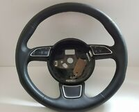 GENUINE AUDI A3 13 TO 16 LEATHER MFSW MULTI FUNCTION STEERING WHEEL - 8V0419091A